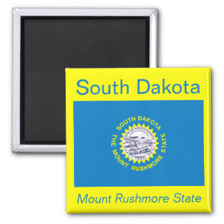 South Dakota Flag Magnet