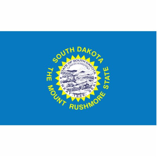 South Dakota Flag Magnet Cut Out