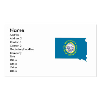 South Dakota Flag Map Double-Sided Standard Business Cards (Pack Of 100)
