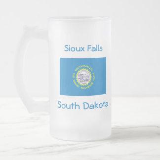 South Dakota Flag Map City Mug