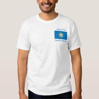 South Dakota Flag Map City T-Shirt