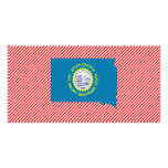 South Dakota Flag Map Photo Cards