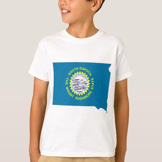 South Dakota Flag Map T-Shirt