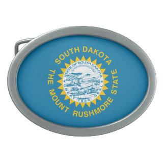 South Dakota Flag Oval Belt Buckles