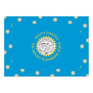 SOUTH DAKOTA Flag Pattern Large Business Cards (Pack Of 100)