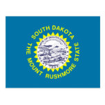 South Dakota Flag Post Card