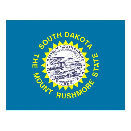 South Dakota Flag Postcard