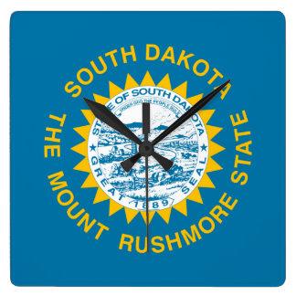South Dakota Flag Square Wall Clock