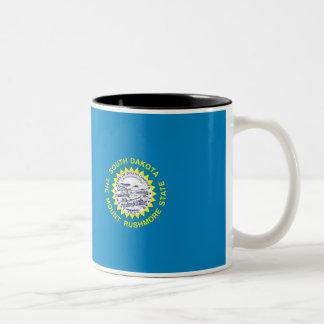 South Dakota Flag Two-Tone Coffee Mug
