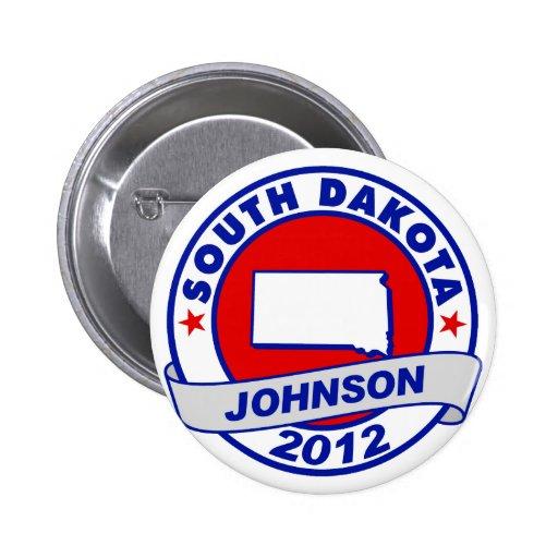 South Dakota Gary Johnson 2 Inch Round Button