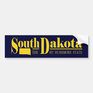 South Dakota Gold Bumper Sticker