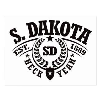 South Dakota, Heck Yeah, Est. 1889 Postcard