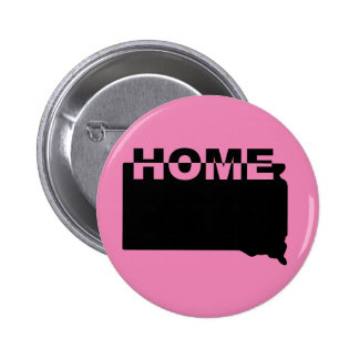 South Dakota Home Away From State Button Badge Pin