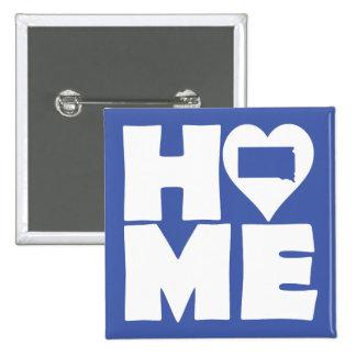 South Dakota Home Heart State Button Badge Pin