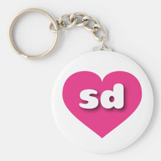 South Dakota hot pink heart - mini love Keychain