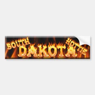 south dakota hottie car bumper sticker