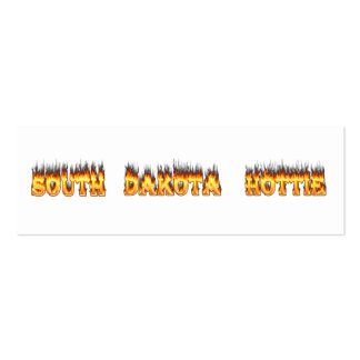 South Dakota hottie fire and flames Double-Sided Mini Business Cards (Pack Of 20)
