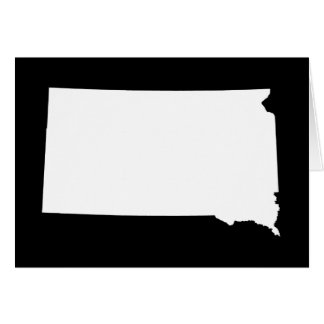 South Dakota in White and Black Card