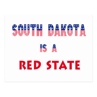 South Dakota is a Red State Postcard