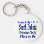 South Dakota  It's the Only Place to Be Basic Round Button Keychain