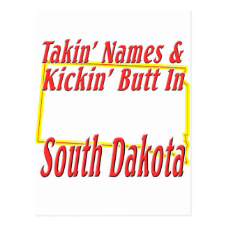 South Dakota - Kickin' Butt Postcard