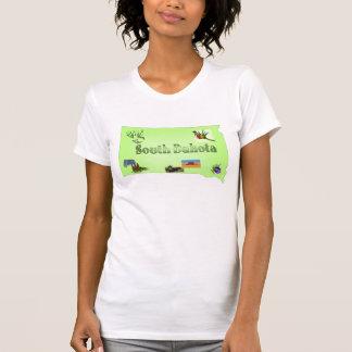 South Dakota Ladies Casual Scoop Shirt