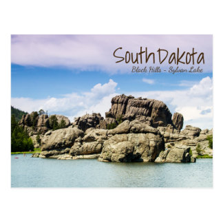 South Dakota Lake Sylvan Postcard