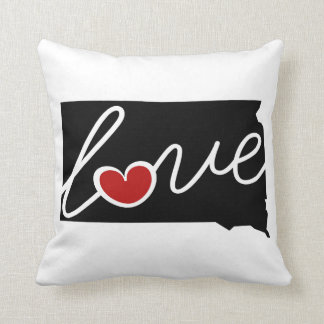 South Dakota Love!  Gifts for SD Lovers Pillows