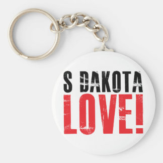 South Dakota Love Keychain