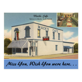 South Dakota, Mack's Cafe, Murdo Postcard