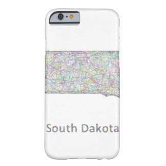 South Dakota map Barely There iPhone 6 Case