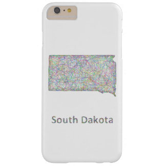 South Dakota map Barely There iPhone 6 Plus Case