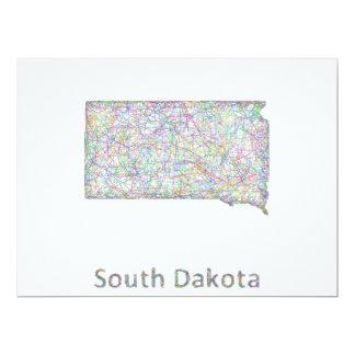 South Dakota map Card