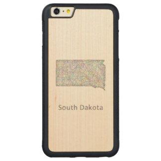 South Dakota map Carved® Maple iPhone 6 Plus Bumper Case