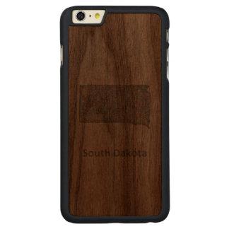 South Dakota map Carved® Walnut iPhone 6 Plus Case