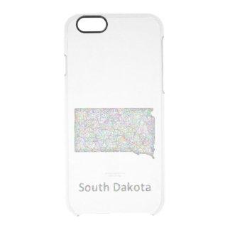 South Dakota map Clear iPhone 6/6S Case