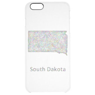 South Dakota map Clear iPhone 6 Plus Case