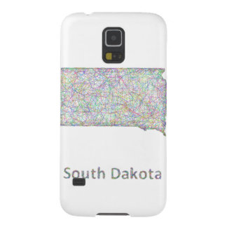 South Dakota map Galaxy S5 Cases