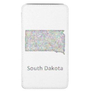 South Dakota map Galaxy S5 Pouch