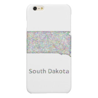 South Dakota map Glossy iPhone 6 Plus Case