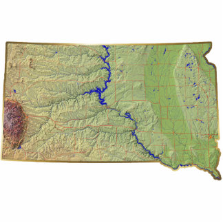 South Dakota Map Keychain Cut Out