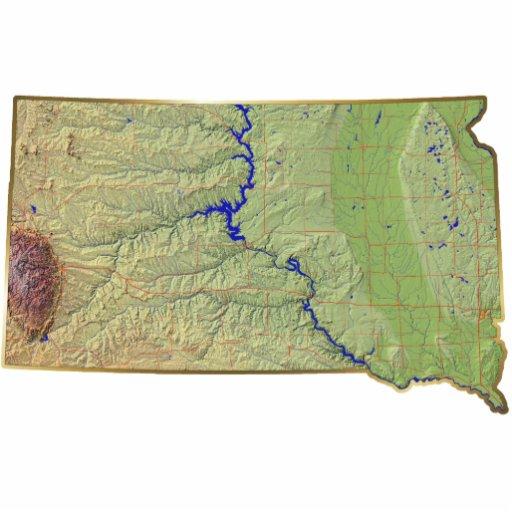 South Dakota Map Magnet Cut Out