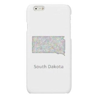 South Dakota map Matte iPhone 6 Case