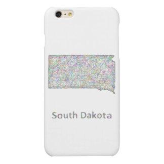 South Dakota map Matte iPhone 6 Plus Case