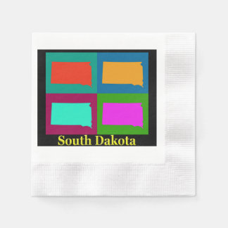 South Dakota Map Napkin