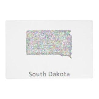 South Dakota map Placemat