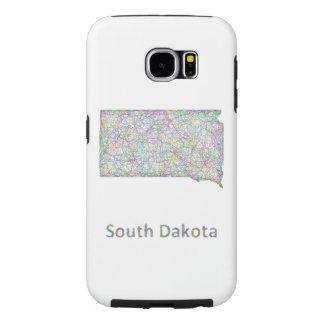 South Dakota map Samsung Galaxy S6 Cases