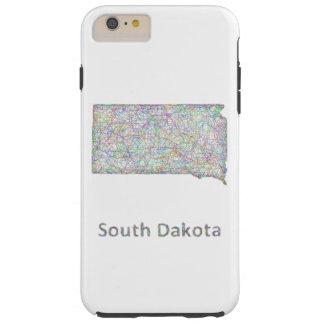 South Dakota map Tough iPhone 6 Plus Case
