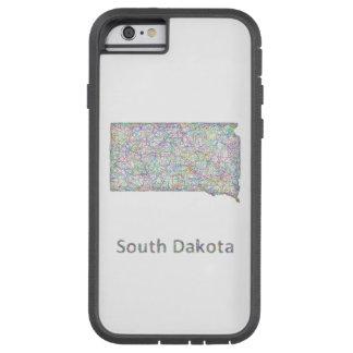 South Dakota map Tough Xtreme iPhone 6 Case