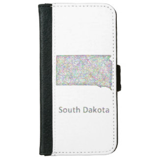 South Dakota map Wallet Phone Case For iPhone 6/6s